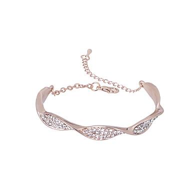 baratos Bijuteria de Mulher-Mulheres Pulseira Cobra Simples Strass Pulseira de jóias Prata / Ouro Rose Para Cerimônia Bagels