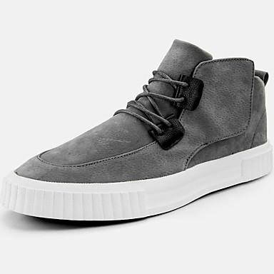 2019 Nuovo Stile Per Uomo Scarpe Comfort Sintetico Primavera & Autunno Per Sport - Collegiale Sneakers Tenere Al Caldo Nero - Grigio - Cachi #07116072