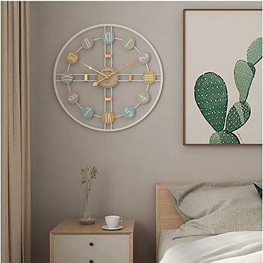 """cheap Home Decor-Wall Clock,Modern Contemporary Fashion Stainless steel Round Indoor 20"""" x 20"""" (50cm x 50cm)"""