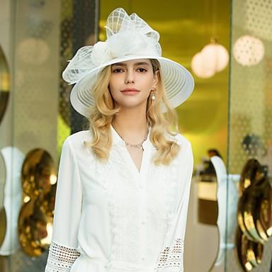 abordables Coiffes-Polyester Kentucky Derby Hat / Chapeaux avec Noeud 1pc Mariage / Fête / Soirée Casque