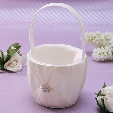 abordables Paniers de Fleurs-Panier de fleurs Autres 22 cm Strass / Ceinture / Ruban 1 pcs