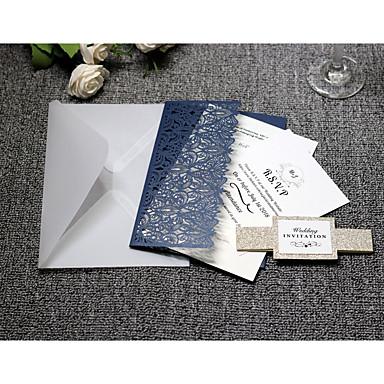billige Bryllupsinvitasjoner-Side Fold Bryllupsinvitasjoner 20 - Invitasjonskort Kunstnerisk Stil Rent papir