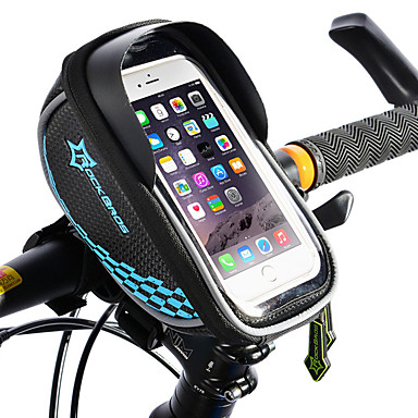 abordables Sacoches de Vélo-ROCKBROS Sac de téléphone portable Sac Cadre Velo Sacoche de Guidon de Vélo Ecran tactile Réfléchissant Etanche Sac de Vélo TPU EVA Polyester Sac de Cyclisme Sacoche de Vélo iPhone X / iPhone XR