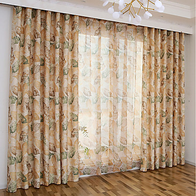 cheap Window Treatments-Modern Curtains Drapes Two Panels Curtain / Living Room