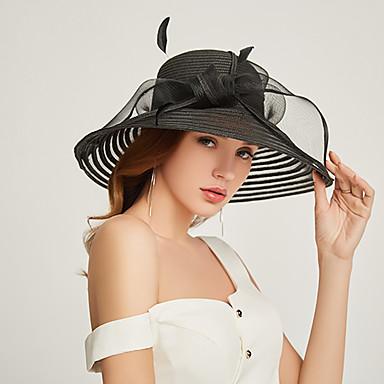 abordables Coiffes-Polyester / Organza Kentucky Derby Hat / Fascinators / Coiffe avec Etagée 1 Pièce Fête / Soirée / Business / Cérémonie / Mariage Casque