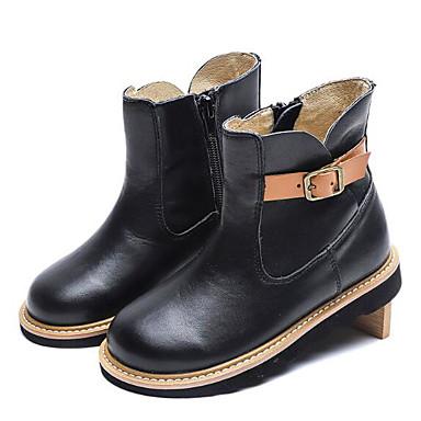 baratos Sapatos de Criança-Para Meninas Pele Napa Botas Criança (9m-4ys) / Little Kids (4-7 anos) Conforto / Coturnos Preto / Marron Inverno / Botas Curtas / Ankle