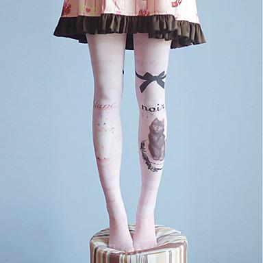 671af46cb10a1 Lolita Accessories · Cosplay Student / School Uniform Women's Adults'  Princess Lolita Tights Girly Socks / Long Stockings