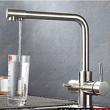 Kitchen faucet - Two Handles One Hole Standard Spout Contemporary Kitchen Taps