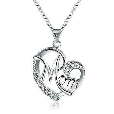7d3b98fdc2c1 Mujer Collares con colgantes Diamante Sintético Corazón Moda Dorado Plata  44+6 cm Gargantillas Joyas