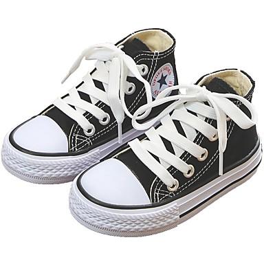 בנות נעליים קנבס קיץ & אביב נוחות נעלי ספורט ל ילדים / מתבגר שחור / צהוב / אדום