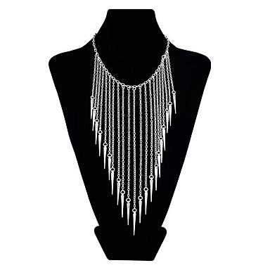 billige Mote Halskjede-Dame Harness Necklace Dusk Overdrivelse Chrome Gull Sølv 45 cm Halskjeder Smykker 1pc Til Aftenselskap Festival