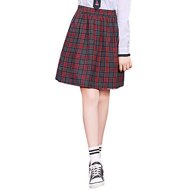 Schüler / Schuluniform Schulmädchen JK Uniform Erwachsene Weiterführende Schule Damen Mädchen Rock Cosplay Kostüme Für Halloween Leistung Baumwolle Polyester Schottenstoff / Kariert Rock Weihnachten