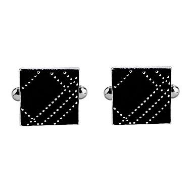 voordelige Herensieraden-Manchetknopen Alfabetvorm Formeel Nette kleding Broche Sieraden Zwart Voor Verloving Verjaardag