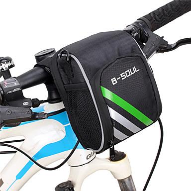 billige Sykkelvesker-B-SOUL 1.2 L Vesker til sykkelstyre Bærbar Anvendelig Holdbar Sykkelveske Nylon Sykkelveske Sykkelveske Sykling Utendørs Trening Sykkel