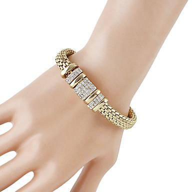 voordelige Dames Sieraden-Dames Armbanden met ketting en sluiting Dikke ketting Baht Chain modieus Modieus Strass Armband sieraden Goud Voor Dagelijks Afspraakje
