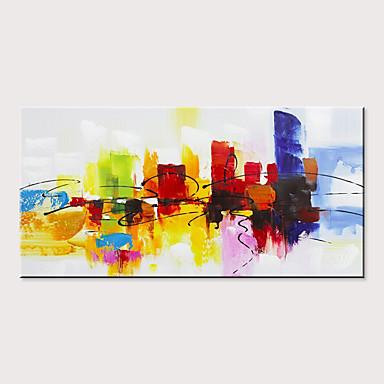 billige Uten Indre Ramme-Hang malte oljemaleri Håndmalte - Abstrakt Moderne Uten Indre Ramme
