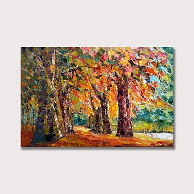 ציור שמן צבוע-Hang מצויר ביד - L ו-scape מודרני כלול מסגרת פנימית
