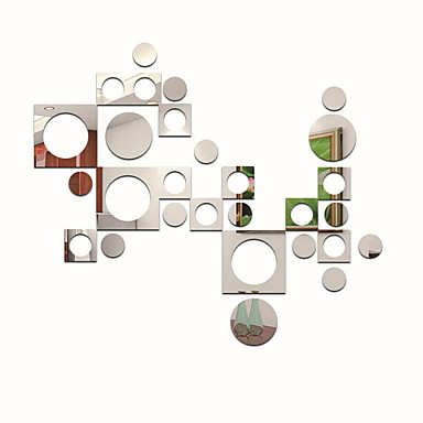 Koriste-seinätarrat - Peilitarrat Muodot Sisällä