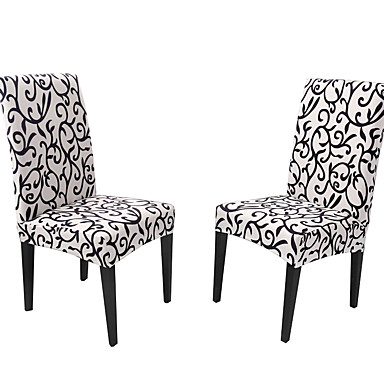 Chair Cover Classic Printed Polyester Slipcovers