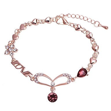 cheap Bracelets-Women's Link Bracelet Classic Stylish Artistic Unique Design European Rhinestone Bracelet Jewelry Silver / Rose Gold For Ceremony Holiday Going out