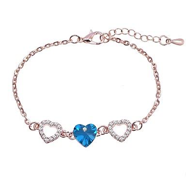abordables Bracelet-Bracelet en cristal Femme Le style rétro Amour Elégant simple Coréen Doux Bracelet Bijoux Argent Violet Or Rose pour Quotidien Vacances Festival
