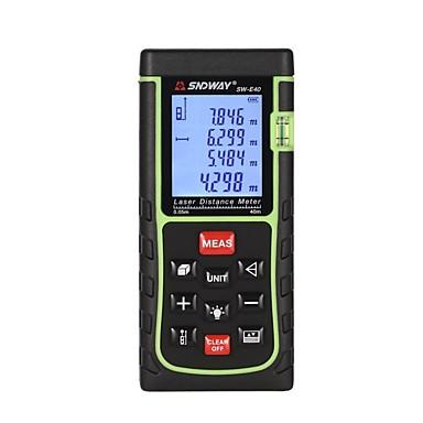 voordelige Waterpasinstrumenten-SNDWAY E40 40m Infrarood afstandsmeter Handheld / Handheld Design / Voice-uitzending voor slimme thuismeting / voor technische metingen / voor bouwconstructies