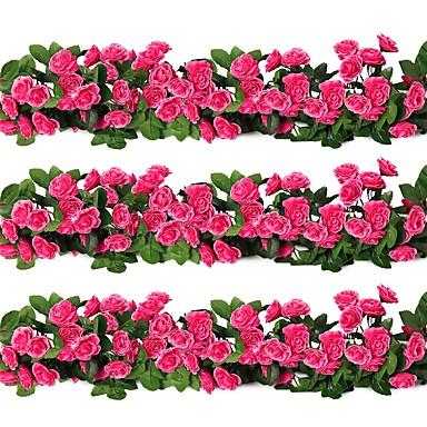 Keinotekoinen Flowers 3 haara Klassinen Moderni nykyaikainen Ruusut