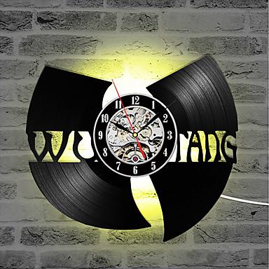 wu tang clan hip-hop band hot prodej cd záznam hodiny vinyl záznam kreativní dárek led nástěnné hodiny