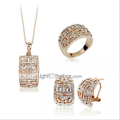 3dc7980fe Women's Hollow Out Jewelry Set Rhinestone, Platinum Plated, Gold Plated  Stylish, Classic Include