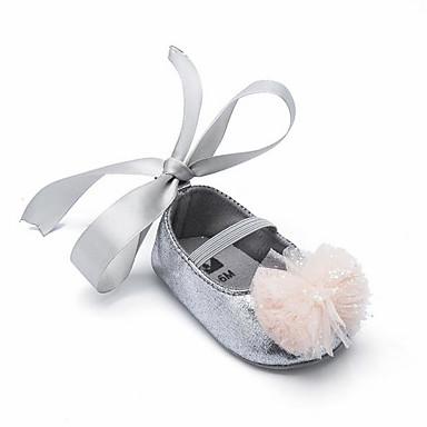 voordelige Babyschoenentjes-Meisjes Eerste schoentjes PU Platte schoenen Peuter (9m-4ys) Koffie / Rood / Roze Lente zomer