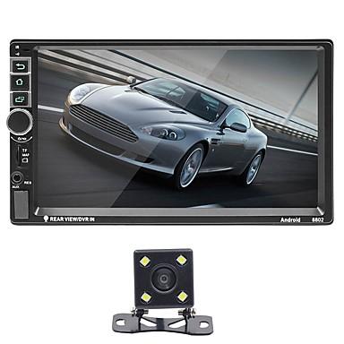 tanie Samochodowy odtwarzacz  DVD-SWM 8802+4LED camera 7 in 2 DIN Android 8.1 Samochodowy odtwarzacz MP5 GPS / Micro USB / MP3 na Univerzál RCA / GPS / VGA Wsparcie MPEG / MPG / WMV MP3 / WAV / FLAC JPEG / RAW / JPG / Karta TF