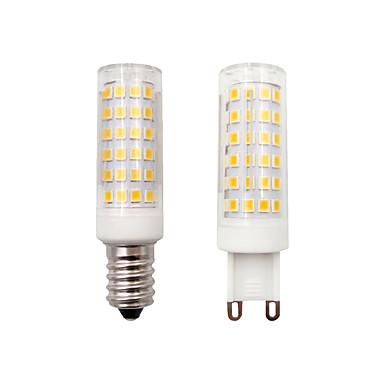 billige Elpærer-BRELONG® 1pc 8 W LED-kornpærer 500 lm E14 G9 78 LED perler SMD 2835 Mulighet for demping Dekorativ Varm hvit 220-240 V