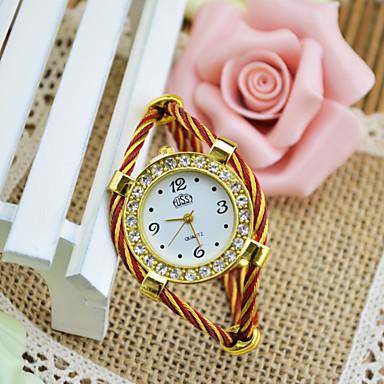 baratos Relógios Senhora-Mulheres Bracele Relógio Casual Fashion Preta Branco Azul Lega Chinês Quartzo Preto Vermelho Rosa Relógio Casual Adorável Analógico