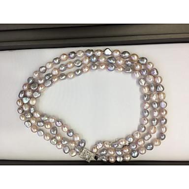 billige Halskjeder-Dame Perle lagdelte Hals Perle Regnbue 24.5 cm Halskjeder Smykker 1pc Til Ferie