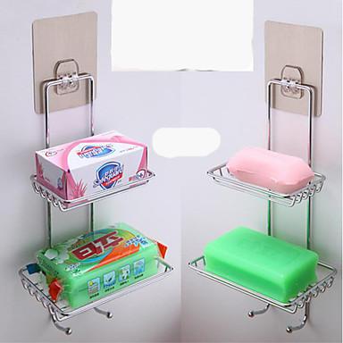 Sabunluklar ve Tutucular Kendinden Yapışkanlı / Havalı / Çok Fonksiyonlu Modern Paslanmaz Çelik 1pc - Banyo Duvara Monte Edilmiş