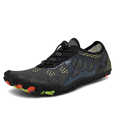 Erkek / Unisex Ayakkabı Elastik Kumaş Yaz / İlkbahar yaz Çin Stili Atletik Ayakkabılar Deniz Ayakkabıları / Rahat Kır Ayakkabıları Dış mekan için Siyah / Gri / Mavi