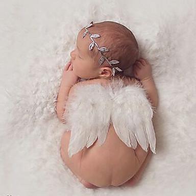 voordelige Kinderaccessoires-Baby Meisjes Standaard / Zoet Effen Strik Rayon Haaraccessoires Wit Een maat