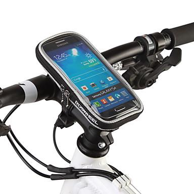 billige Sykkelvesker-ROSWHEEL Mobilveske Vesker til sykkelstyre 5.5 tommers Berøringsskjerm Sykling til Samsung Galaxy S6 iPhone 5C iPhone 4/4S Svart Oransje Sykling / Sykkel / iPhone X / iPhone XR / iPhone XS