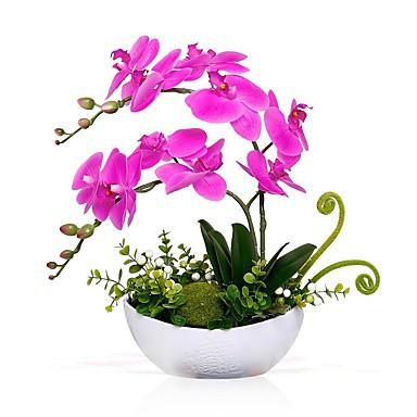 Künstliche Blumen 2 Ast Klassisch Moderne zeitgenössische Phalaenopsis