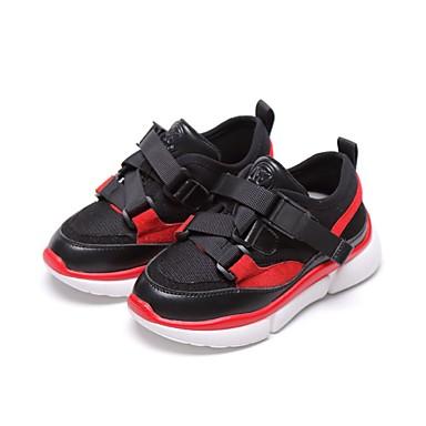 baratos Sapatos de Criança-Para Meninos Couro de Porco Tênis Criança (9m-4ys) / Little Kids (4-7 anos) / Big Kids (7 anos +) Conforto Corrida Preto / Cinzento / Marron Outono