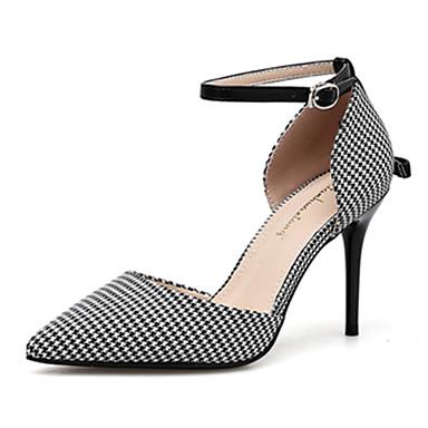 7481080ec7 Women's Heels Stiletto Heel Pointed Toe Faux Leather Walking Shoes ...
