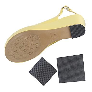 abordables Accessoires pour Chaussures-1 paire Vestimentaire Semelle Intérieures PVC Talon Printemps Unisexe Noir