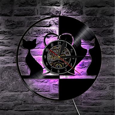 kat belysning vinyl rekord ur