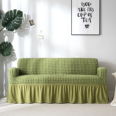 voordelige Overtrekken-bank hoes hoge rek groene popcorn combinatorische zachte elastische polyester kussenovertrekken