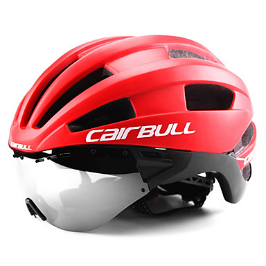 cheap Bike Helmets-CAIRBULL Adults' Bike Helmet with Goggle 22 Vents CE EN 1077 Integrally-molded Ventilation Insect Net EPS Sports Mountain Bike / MTB Road Cycling - Black / White Green and Black Black / Blue Men's