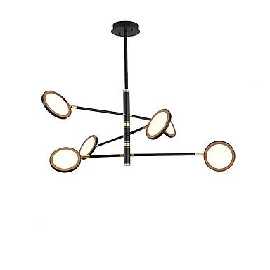 Qingming® 6-light Mini Lampadari Luce Ambientale Galvanizzato Finiture Verniciate Metallo Stile Mini, Con Led 110-120v - 220-240v Bianco Caldo - Bianca #07182650 Crease-Resistenza
