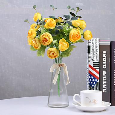 Keinotekoinen Flowers 1 haara Klassinen Häät Hääkukat Camellia Eternal Flowers Pöytäkukka