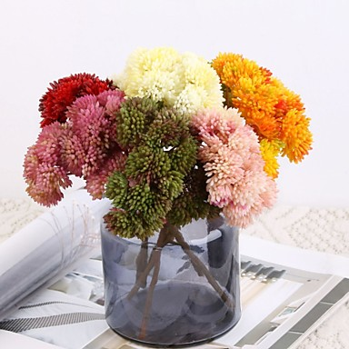 Keinotekoinen Flowers 1 haara Klassinen Näyttämötarpeet Pastoraali Tyyli Hortensiat Kasvit Eternal Flowers Pöytäkukka