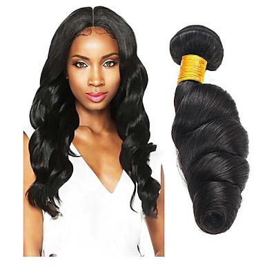 3 paketa Valovita kosa Ljudska kosa Netretirana  ljudske kose Headpiece Ljudske kose plete Styling kose 8-28 inch Prirodna boja Isprepliće ljudske kose Najbolja kvaliteta Rasprodaja Cool Proširenja