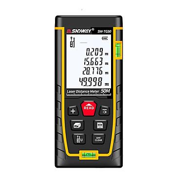 voordelige Waterpasinstrumenten-SNDWAY SW-TG50 50m Infrarood afstandsmeter Handheld / Handheld Design / Hoge kwaliteit voor slimme thuismeting / voor technische metingen / voor bouwconstructies